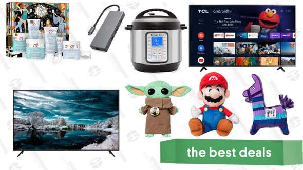 """Sunday's Best Deals: TCL 65"""" Android TV, Instant Pot Duo Plus, Vava 8-in-1 USB-C Hub, All That FAB Skincare Set, Baby Yoda & Nintendo Character Pillows, and More"""