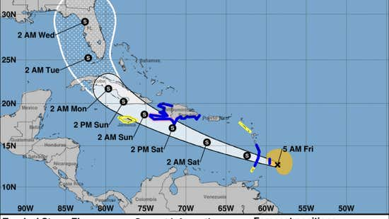 Florida in Tropical Storm Elsa's forecast, and parts of Haiti under hurricane watch