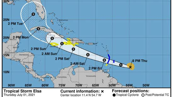 Haiti under alert as Tropical Storm Elsa approaches. The Dominican Republic also watching