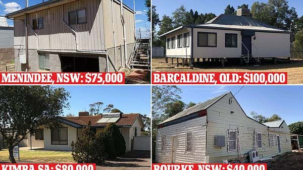 Houses with water views in one Australian town are selling for less than $80,000