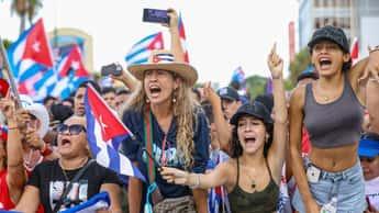 Cubanos en Miami mandan parar la música y piden pasos concretos en apoyo al pueblo en la isla