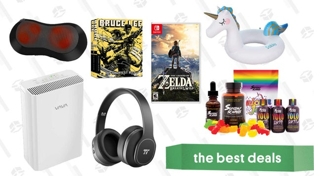 Friday's Best Deals: TaoTronics ANC Headphones, The Legend of Zelda: Breath of the Wild, HEPA Air Filter, Sunday Scaries CBD, and More