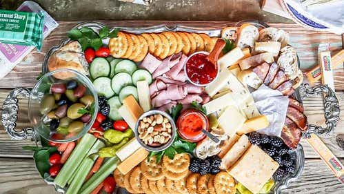 This Bacon and Cheddar Charcuterie Board Is About to Be Your Go-To Snack Spread
