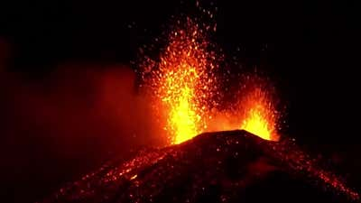 Watch Now: Mt. Etna erupts with lava for the third time this year