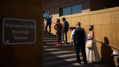 Unique 4/3/21 date draws lines for Vegas wedding licenses