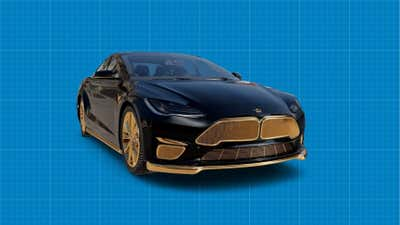 A Luxury Gold-Plated Black Tesla Model S Is Now Available