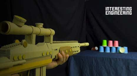 Build a Nerf Gun From Nothing More Than Cardboard