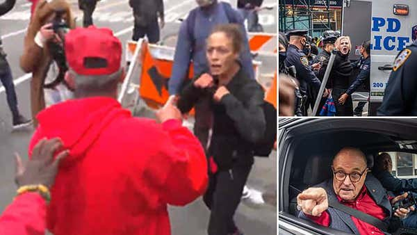 NYC #JewsForTrump convoy descends into chaos as anti-Trump protesters brawl with MAGA fans