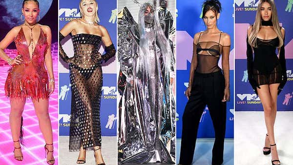 MTV VMAs: Miley Cyrus and Lady Gaga lead the sexy ensembles on the red carpet