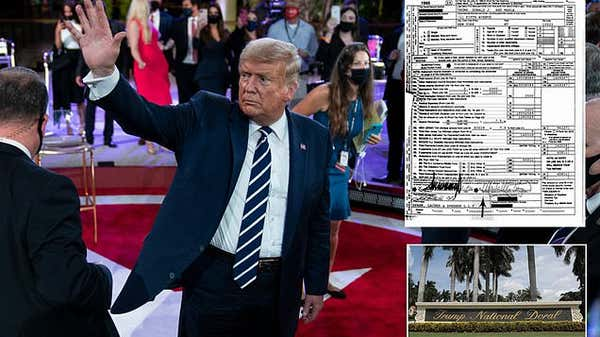 Donald Trump says his $750 bill was 'a filing fee' and that he 'probably' owes foreign entities