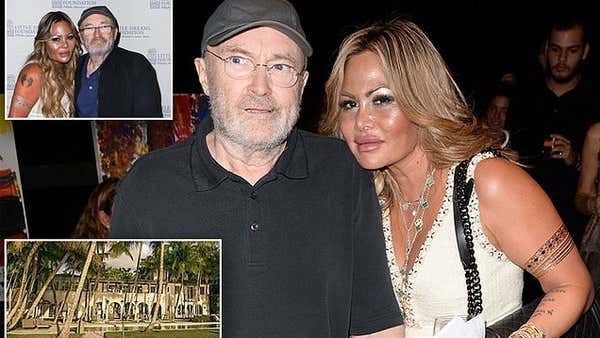 Phil Collins 'plans to evict his ex-wife Orianne Cevey from his Miami home... after she remarried'