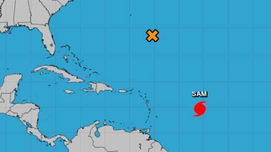 El potente huracán Sam se mantiene lejos de la costa