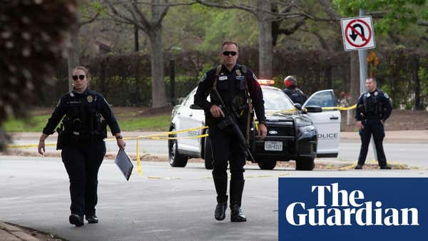 Texas shooting: search for fugitive after three people killed in Austin