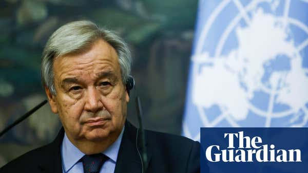 António Guterres on the climate crisis: 'We are coming to a point of no return'