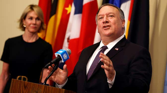 US set for showdown with UN over snapback sanctions on Iran