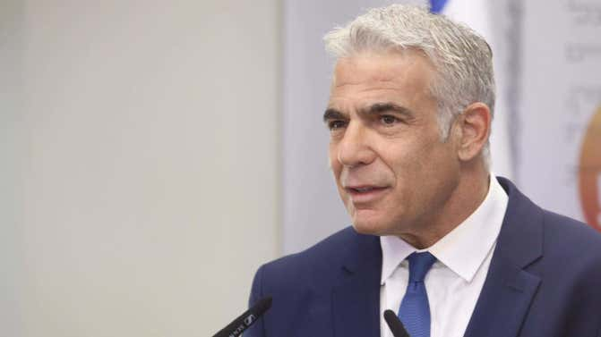 Lapid outlines 'economy for security' plan to stop Hamas terror in Gaza
