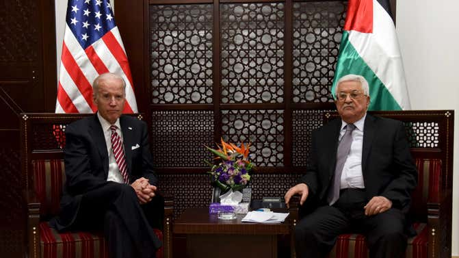 Some 49% of Israelis want Biden to relaunch talks with the Palestinians