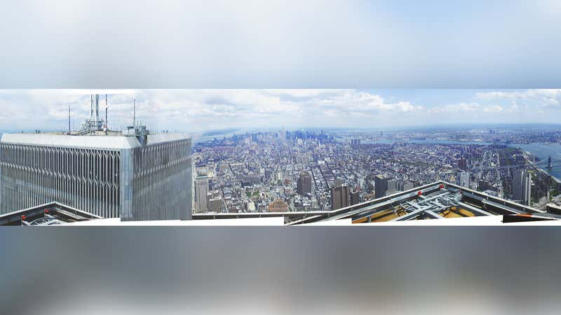 A 360° Panorama From Atop the World Trade Centers Shortly Before 9/11