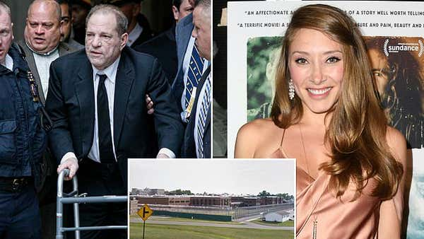 Harvey Weinstein, 68, was paid a special visit by his actress girlfriend Alexandra Vino, 27