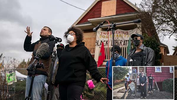 'Red House' protesters lift blockades in Portland 'occupation' zone after standoff with police