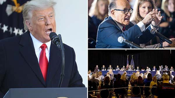 Donald Trump CANCELS plan to watch Rudy Giuliani voter fraud claims