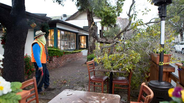 Mudflow from burn scar damages homes as storm continues to batter Monterey County