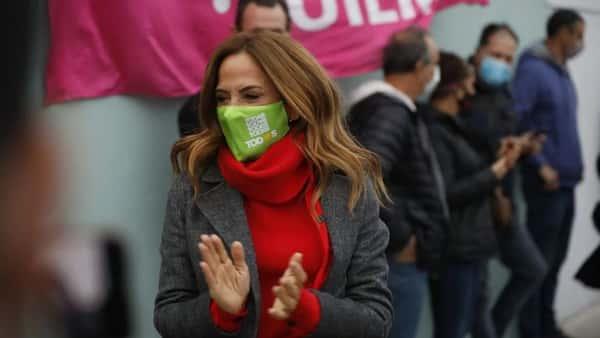 Victoria Tolosa Paz vota en La Plata