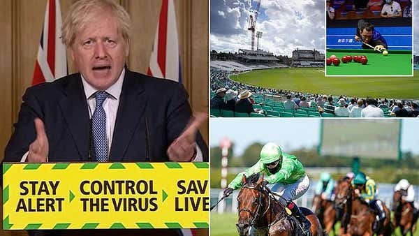 Sport is reeling as Boris Johnson puts the brakes on the return of fans