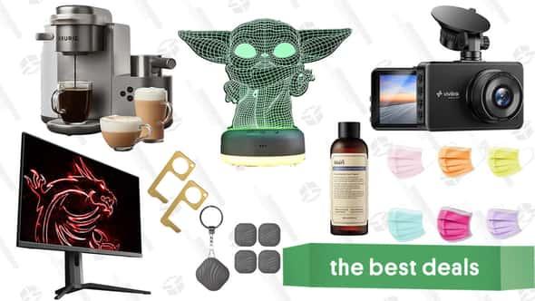 "Sunday's Best Deals: MSI 27"" Gaming Monitor, ViviLink Dashcam, Star Wars Night Light, Nutale Findthing Trackers, Keurig Coffee & Latte Maker, Klairs Skincare, and More"